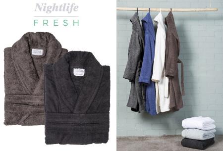 Nightlife badjas van hotelkwaliteit | Zachte badstof van 100% katoen