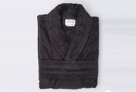 Nightlife badjas van hotelkwaliteit | Zachte badstof van 100% katoen zwart
