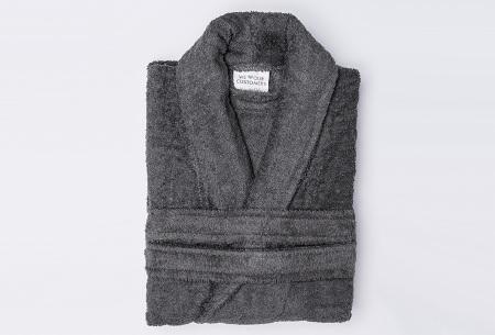 Nightlife badjas van hotelkwaliteit | Zachte badstof van 100% katoen antraciet