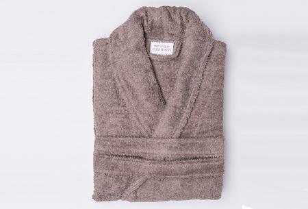 Nightlife badjas van hotelkwaliteit | Zachte badstof van 100% katoen taupe