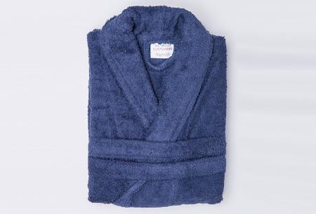 Nightlife badjas van hotelkwaliteit | Zachte badstof van 100% katoen donkerblauw