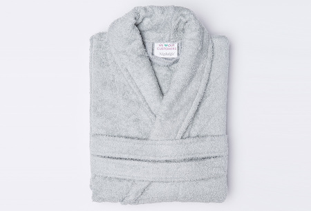 Nightlife badjas van hotelkwaliteit | Zachte badstof van 100% katoen grijs