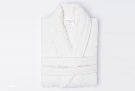 Nightlife badjas van hotelkwaliteit | Zachte badstof van 100% katoen ecru