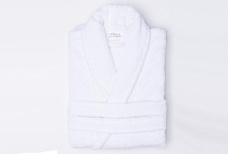 Nightlife badjas van hotelkwaliteit | Zachte badstof van 100% katoen wit