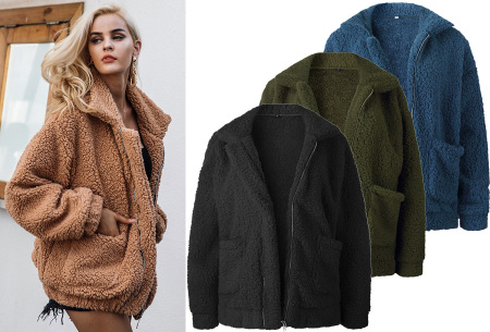 Teddy coat winterjas dames in de sale