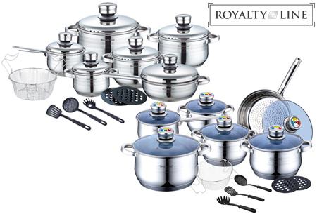 Dagaanbieding - Royalty Line pannenset 18-delig met mega korting! dagelijkse koopjes