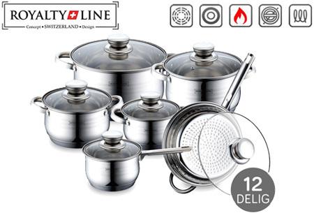Royalty Line 12-delige pannenset | Topkwaliteit voor een spotprijs