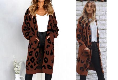 Leopard vest | Heerlijk gebreid vest met hippe luipaardprint coffee