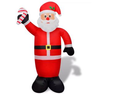 Opblaasbare kerstman & sneeuwpop met LED licht | XL kerstfiguren voor in je huis of tuin kerstman 240 cm