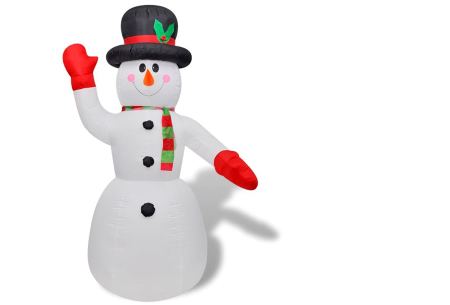 Opblaasbare kerstman & sneeuwpop met LED licht | XL kerstfiguren voor in je huis of tuin sneeuwpop 240 cm