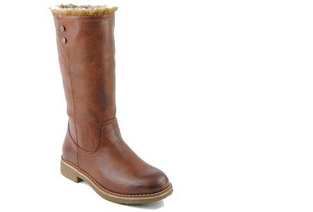 Gevoerde laarzen in 2 modellen | Heerlijk warme laarzen voor de koude winter 1089-PA-Camel