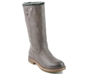 Gevoerde laarzen in 2 modellen | Heerlijk warme laarzen voor de koude winter 1089-PA-Grijs