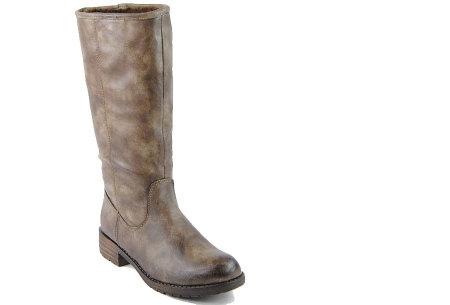 Gevoerde laarzen in 2 modellen | Heerlijk warme laarzen voor de koude winter 1090-PG-Khaki