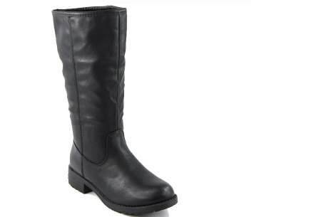 Gevoerde laarzen in 2 modellen | Heerlijk warme laarzen voor de koude winter 1090-PG-Zwart