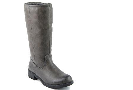 Gevoerde laarzen in 2 modellen | Heerlijk warme laarzen voor de koude winter 1090-PG-Grijs