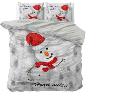 Kerst dekbedovertrekken 100% katoen | Droom weg in de kerstsfeer Heart melt