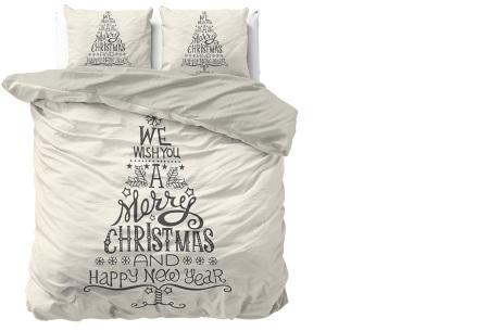 Kerst dekbedovertrekken 100% katoen | Droom weg in de kerstsfeer We wish you