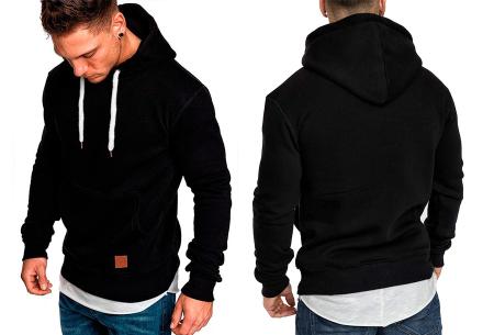 Heren hoodie | Hippe & comfortabele sweater met warme fleece binnenzijde zwart
