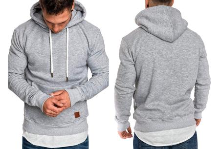 Heren hoodie | Hippe & comfortabele sweater met warme fleece binnenzijde lichtgrijs