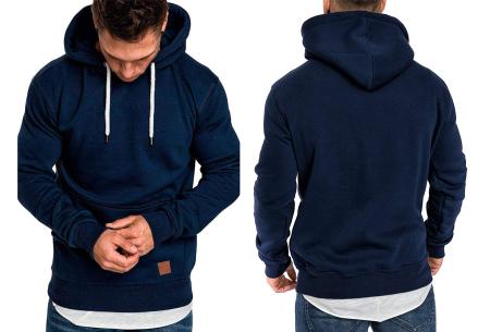 Heren hoodie | Hippe & comfortabele sweater met warme fleece binnenzijde navy