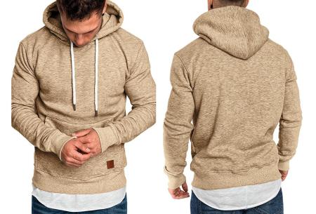 Heren hoodie | Hippe & comfortabele sweater met warme fleece binnenzijde khaki