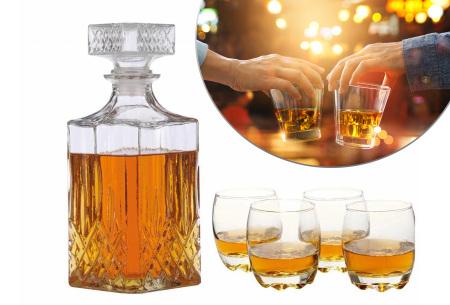 5-delige Whiskey set | Luxe set voor jouw favoriete drankje