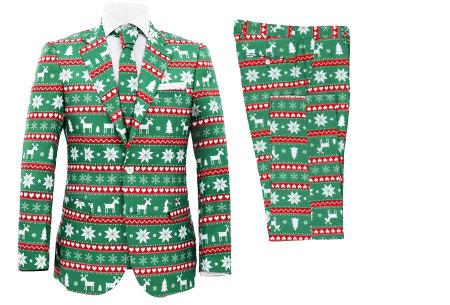 Tweedelige kerstpakken voor heren | Bestel ze nu met korting #2 Groen