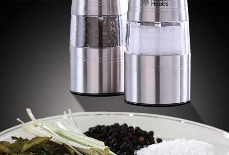 Russell Hobbs elektrische peper- en zoutmolen | Met handige verlichting en instelbare maalgraad