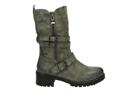 Zip up biker boots | Stijlvolle laarzen met een stoere touch Grijs
