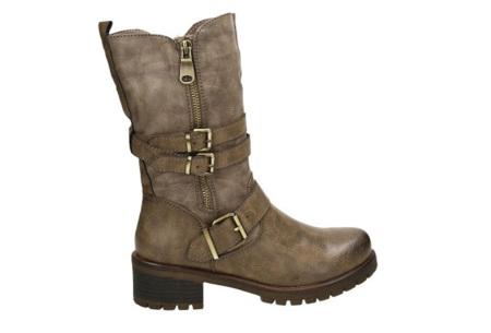 Zip up biker boots | Stijlvolle laarzen met een stoere touch Khaki