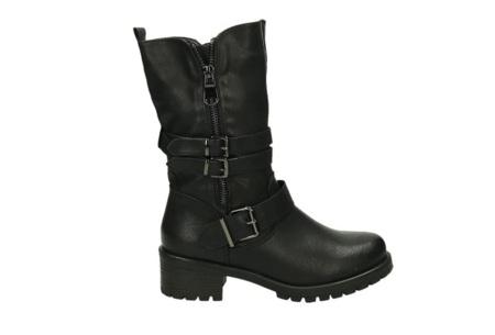 Zip up biker boots | Stijlvolle laarzen met een stoere touch Zwart