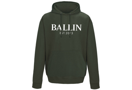 Ballin Est. 2013 heren hoodie | 100% katoen in 5 neutrale kleuren  army groen