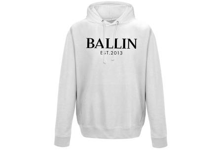 Ballin Est. 2013 heren hoodie | 100% katoen in 5 neutrale kleuren  wit