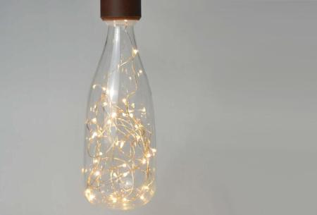 Fairy LED lamp in 9 modellen | Feestelijke lichtbronnen met wirwar aan lichtjes Fles