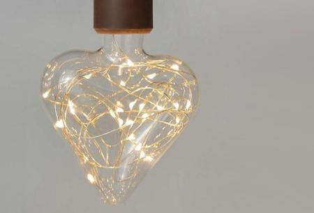 Fairy LED lamp in 9 modellen | Feestelijke lichtbronnen met wirwar aan lichtjes Hart