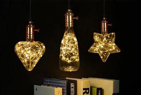 Fairy LED lamp in 9 modellen | Feestelijke lichtbronnen met wirwar aan lichtjes