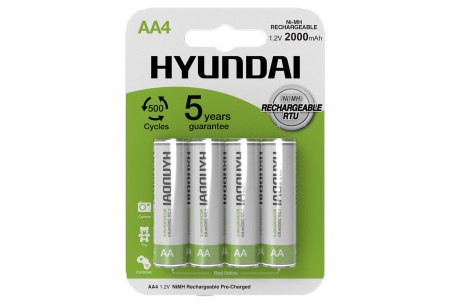 Hyundai oplaadbare batterijen | AA of AAA batterijen - 8- of 16-pack AA