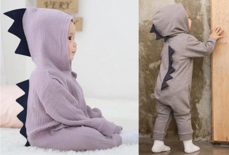 Dino onesie voor baby & dreumes | Schattig huispakje met het ontwerp van een dinosaurus