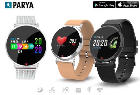 Parya smartwatch - nu in de aanbieding