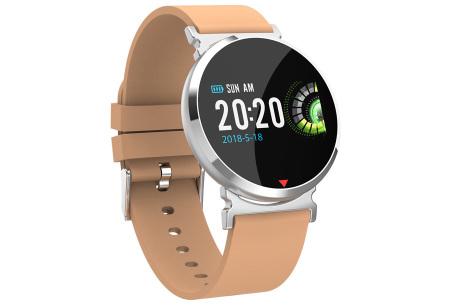 Parya smartwatch in 2 uitvoeringen | Luxe design met vele handige functies beige