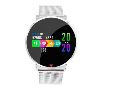 Parya smartwatch in 2 uitvoeringen | Luxe design met vele handige functies zilverkleurig