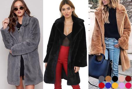 Bontjas van imitatiebont in 10 kleuren | Fashionable, stijlvol en heerlijk zacht