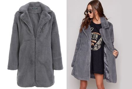 Bontjas van imitatiebont in 10 kleuren | Fashionable, stijlvol en heerlijk zacht grijs