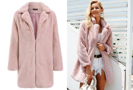 Bontjas van imitatiebont in 10 kleuren | Fashionable, stijlvol en heerlijk zacht roze