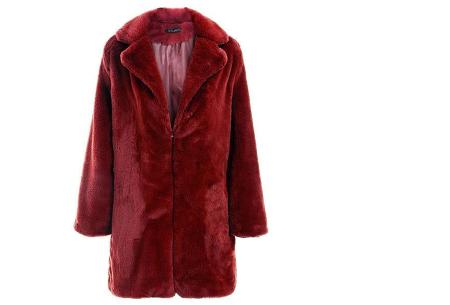 Bontjas van imitatiebont in 10 kleuren | Fashionable, stijlvol en heerlijk zacht wijnrood