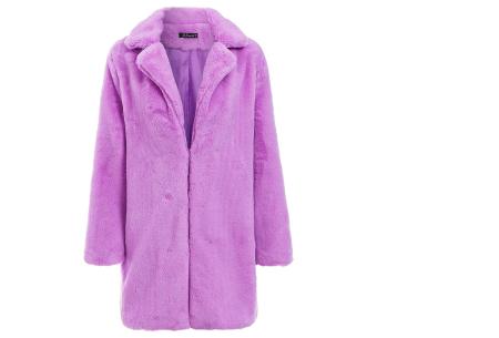 Bontjas van imitatiebont in 10 kleuren | Fashionable, stijlvol en heerlijk zacht paars