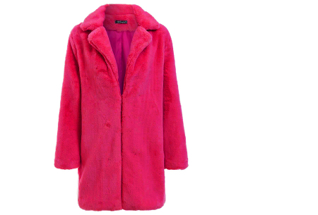 Bontjas van imitatiebont in 10 kleuren | Fashionable, stijlvol en heerlijk zacht fuchsia