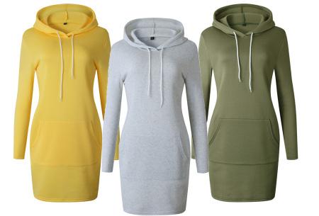 Hoodie dress | Jurk met zachte fleece binnenzijde