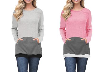 Colorful sweatshirt | Kleurrijke dames tops nu in de aanbieding