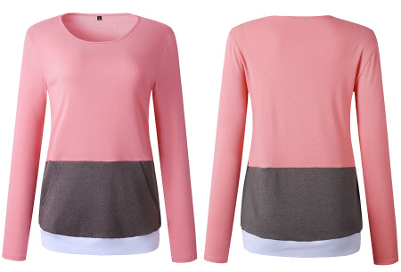 Colorful sweatshirt | Kleurrijke dames tops nu in de aanbieding Roze